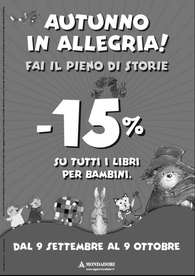 Mondadori Ragazzi promozione autunno 2016